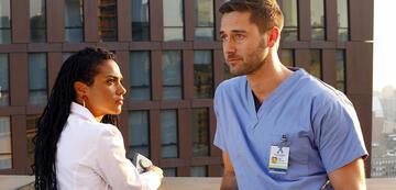New Amsterdam: Dr. Helen Sharpe (Freema Agyeman & Dr. Max Goodwin (Ryan Eggold)