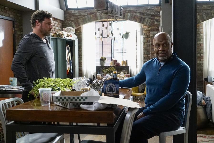 Grey's Anatomy - Staffel 16, Grey's Anatomy - Staffel 16 Episode 1 mit Justin Chambers und James Pickens Jr.