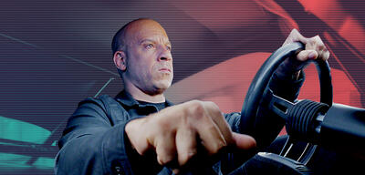Vin Diesel nebst Steuerknüppel in Fast and Furious