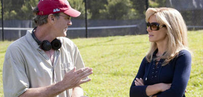John Lee Hancock am Set von Blind Side