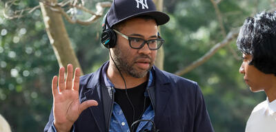 Jordan Peele am Set von Get Out