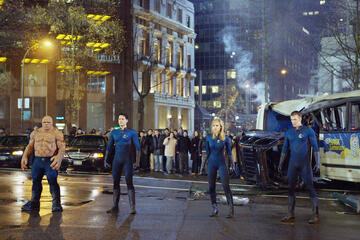 "Michael Chiklis, Ioan Gruffudd, Jessica Alba und Chris Evans (v. l.) als die ""Fantastic Four"""