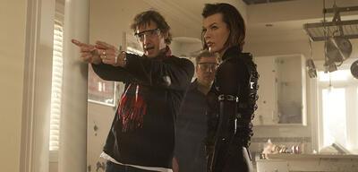 Paul W.S. Anderson und Milla Jovovich