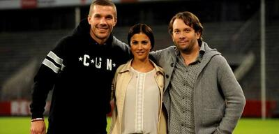 Lukas Podolski am Set von Macho Man