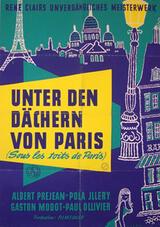 Unter den Dächern von Paris - Poster