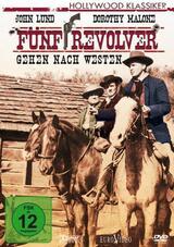 Fünf Revolver gehen nach Westen - Poster