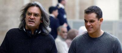 Paul Greengrass mit Bourne-Darsteller Matt Damon