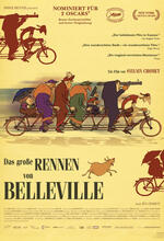 Das große Rennen von Belleville Poster