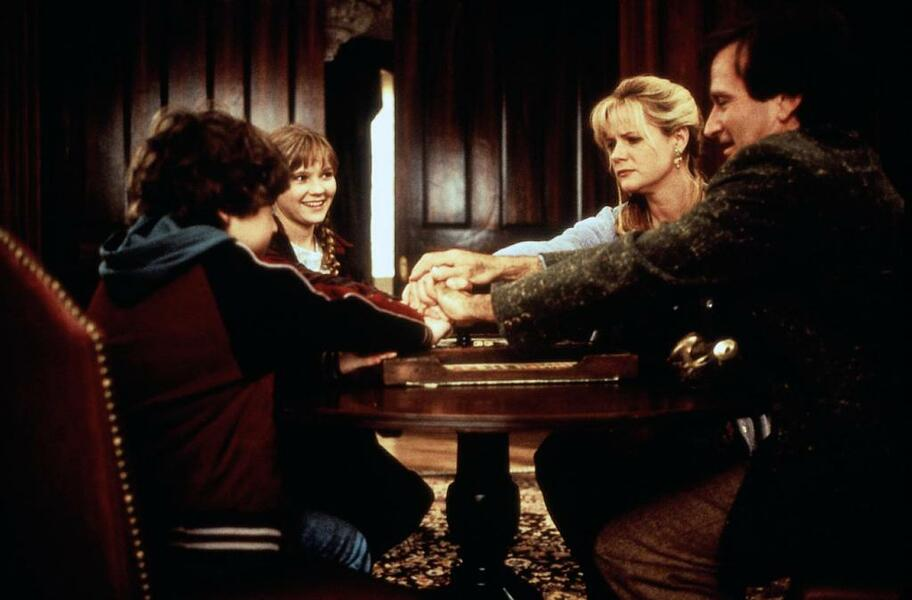 Jumanji mit Robin Williams, Kirsten Dunst, Bonnie Hunt und Bradley Pierce