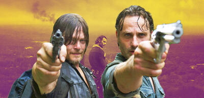 Norman Reedus als Daryl und Andrew Lincoln als Rick in The Walking Dead