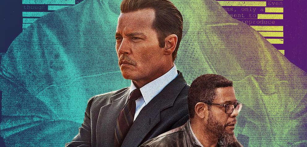Johnny Depp und Forest Whitaker auf dem City of Lies-Poster
