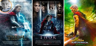 Die Poster der bisherigen Thor-Filme