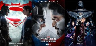 Filmposter einiger Comic-Filme 2016