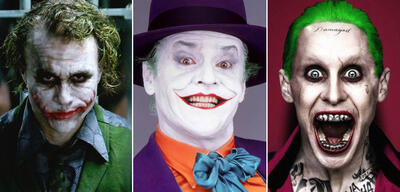 Der Joker: Heath Ledger, Jack Nicholson, Jared Leto