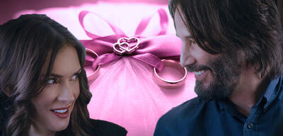 Keanu Reeves und Wnona Ryder in Destination Wedding