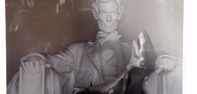 Hai-Sitter Lincoln in Sharknado 3: Oh Hell No!