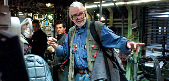 George A. Romero auf dem Set von Land of the Dead