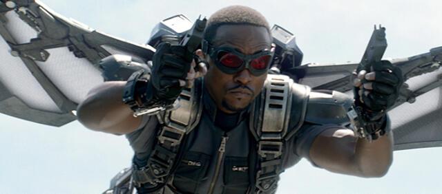 Wird in den Comics befördert: Falcon, hier verkörpert von Anthony Mackie