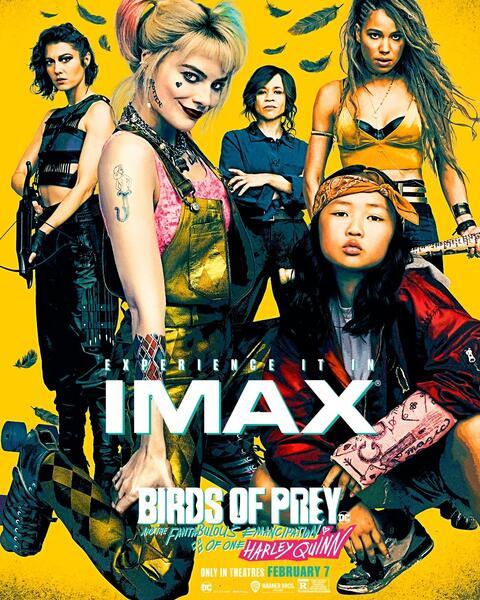 Birds of Prey: The Emancipation of Harley Quinn mit Margot Robbie, Mary Elizabeth Winstead, Rosie Perez, Jurnee Smollett-Bell und Ella Jay Basco