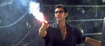 Jeff Goldblum als Chaostheoretiker in Jurassic Park