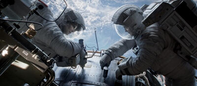 Sandra Bullock und George Clooney in Alfonso Cuaróns Gravity