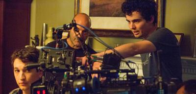 Damien Chazelle bei Dreharbeiten zu Whisplash