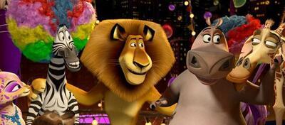 Haben Grund zu feiern: die tierischen Freunde aus Madagascar 3