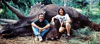 Kathleen Kennedy mit Steven Spielberg