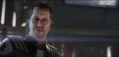 Die Eröffnungssequenz zeigt Gary Oldman als Admiral Bishop