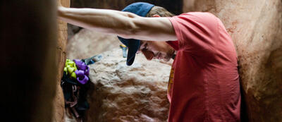 James Franco als Bergsteiger Aron Ralston