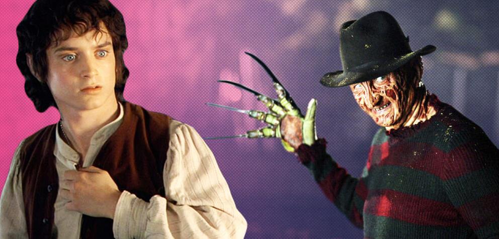 Elijah Wood in Der Herr der Ringe und Robert Englund in Freddy vs. Jason