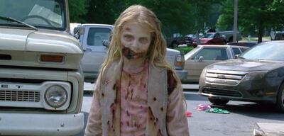 Zombie-Mädchen in der Pilot-Folge von The Walking Dead